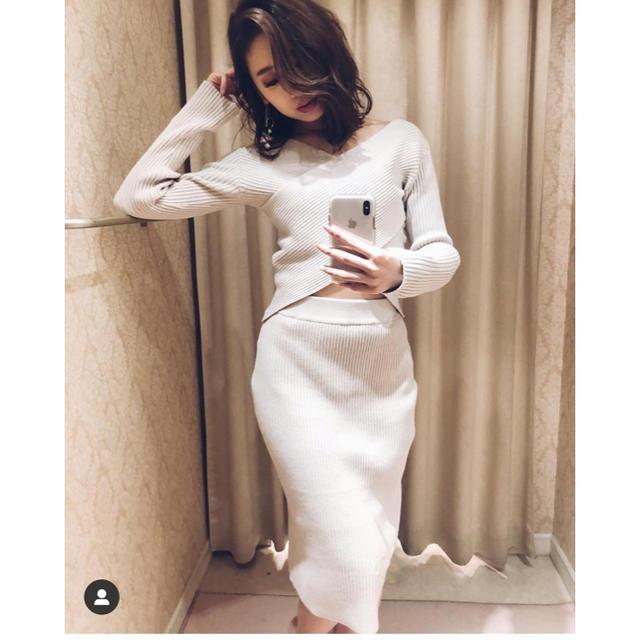 rienda(リエンダ)のrienda クロスリブタイトミディKnitSETUP レディースのスカート(ロングスカート)の商品写真