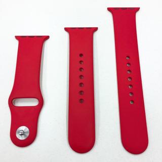 Apple Watch - アップル純正 スポーツバンド 赤 Apple Watch 38mm用
