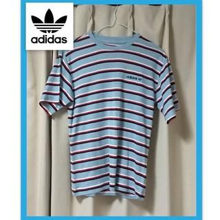 アディダス(adidas)のアディダス ボーダー Tシャツ XS 美品 オマケ付き♪(Tシャツ/カットソー(半袖/袖なし))