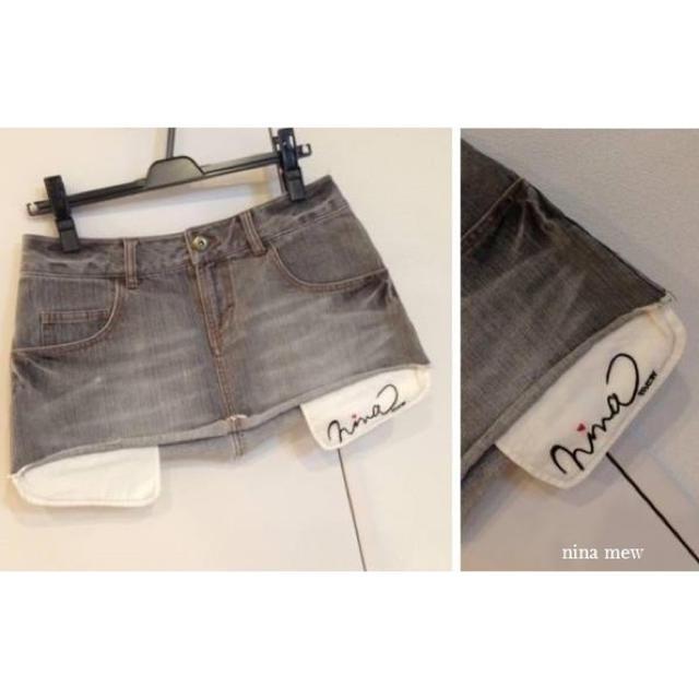 Nina mew(ニーナミュウ)のnina mew デニム スカート ニーナミュウ レディースのスカート(ミニスカート)の商品写真