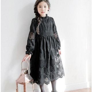 長袖 子供ドレス パーティ キッズ 可愛い 春秋 発表会 卒園式 入学式 女の子(ワンピース)