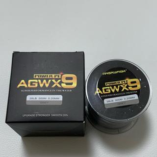 PEライン 高強度 1.5号 28lb 500m 9本編 グレー AGW X9