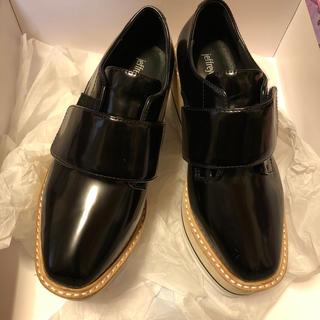 ジェフリーキャンベル(JEFFREY CAMPBELL)のJeffreyCampbell シャークソールフロントベルトシューズ(ローファー/革靴)