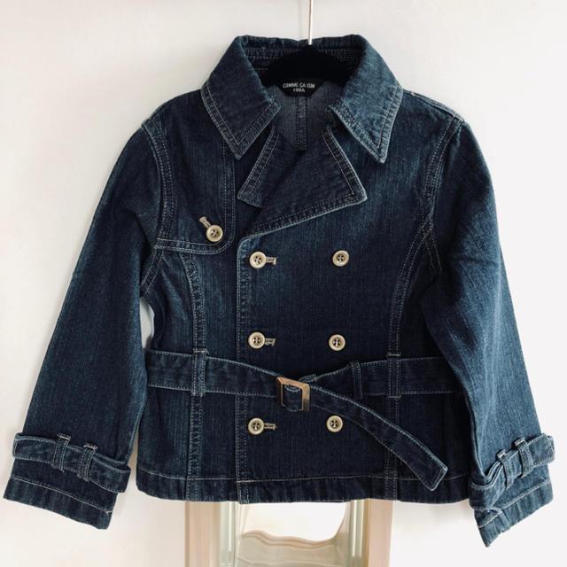 COMME CA ISM(コムサイズム)のデニムジャケット  100㎝  男の子 キッズ/ベビー/マタニティのキッズ服 男の子用(90cm~)(ジャケット/上着)の商品写真
