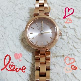 マーガレットハウエル(MARGARET HOWELL)の✨✨美品 ソーラー マーガレットハウエル セントラルダイアモンド ピンクゴールド(腕時計)