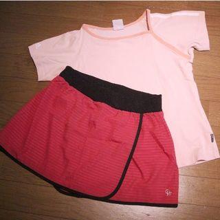 adidas - adidas TシャツS・ノーブランドラップスカートMセット