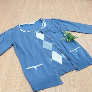 エルディープライム(LD prime)の綺麗なブルーのアンサンブル(アンサンブル)