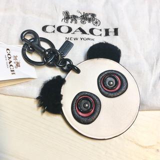 COACH - コーチCOACH ロゴ 白 パンダ ベア バッグチャーム キーホルダー ブランド