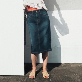 ビームス(BEAMS)の新品未使用 RED CARD レッドカード デニムタイトスカート(ひざ丈スカート)