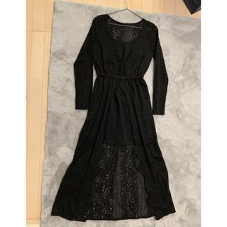 rienda - リエンダ アシンメトリー ワンピ ミニ  ロングワンピ  ドレス キャバ 黒