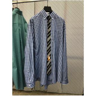 バレンシアガ(Balenciaga)のvetements19AW今期新作ネクタイ付きシャツ青定価12万円(シャツ)