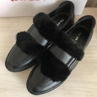 イエナ(IENA)の新品 サヴァサヴァ 2way  本革 ブラック シューズ(ローファー/革靴)