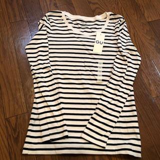 ジーユー(GU)のGU ボーダークルーネックT(Tシャツ(長袖/七分))