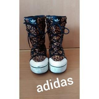 アディダス(adidas)のAdidas★レオパード個性的なブーツ22.5㎝(ブーツ)