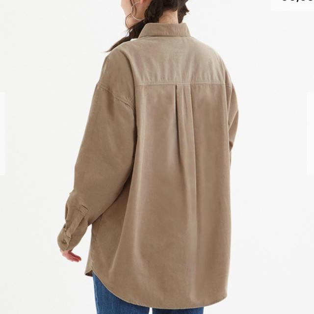 GU(ジーユー)の【 komari さま専用 】GU コーデュロイ オーバーサイズシャツ  レディースのトップス(シャツ/ブラウス(長袖/七分))の商品写真