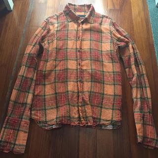 griffin グリフィン 橙チェックシャツ
