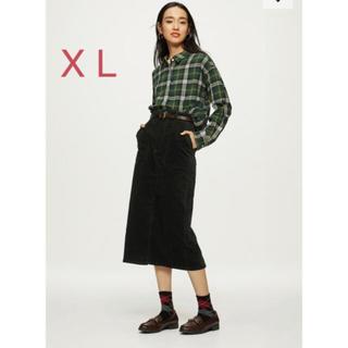ジーユー(GU)のGU☆ ベッチンタイトスカート(ロングスカート)