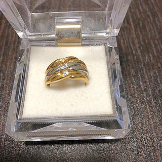 18金プラチナコンビダイヤモンドリング