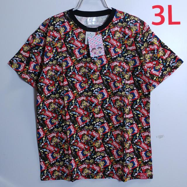 新品 3L XXL ペコちゃん 大きいサイズ Tシャツ ブラック メンズのトップス(Tシャツ/カットソー(半袖/袖なし))の商品写真