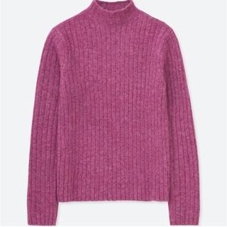ユニクロ(UNIQLO)のUNIQLO ワイドリブモックネックセーター(ニット/セーター)