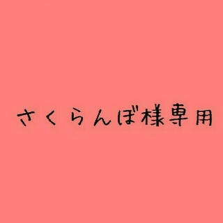 さくらんぼ様 専用 【取り置き 12/23 23:59迄】