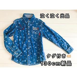 ダブルビー(DOUBLE.B)のミキハウス ダブル🅱️ ウエスタンテイスト デニムシャツ 130cm新品(Tシャツ/カットソー)