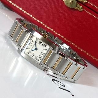 Cartier - 【美品☆】カルティエ タンクフランセーズ K18 コンビ レディース / 腕時計