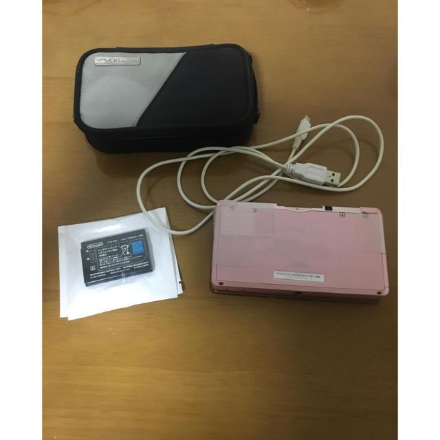 ニンテンドー3DS(ニンテンドー3DS)のニンテンドー3ds 純正バッテリー ケース 充電ケーブル付き エンタメ/ホビーのゲームソフト/ゲーム機本体(携帯用ゲーム機本体)の商品写真
