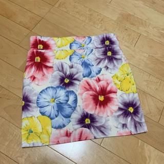 グレイル(GRL)の花柄 タイトスカート(ミニスカート)