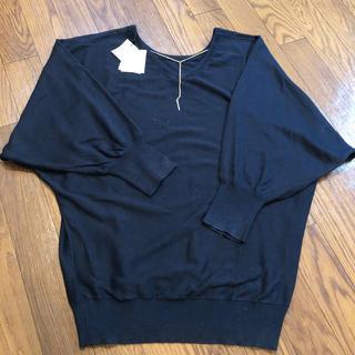 アクアネーム(AquaName)の【新品】AQUANAME 前後着用&ブレスネックレス付きセーター(ニット/セーター)