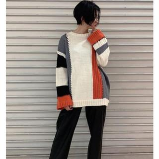 moussy - MOUSSY(マウジー)  COLOR PATCH WORK KNIT