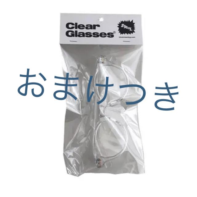 クリアメガネ メンズのファッション小物(サングラス/メガネ)の商品写真
