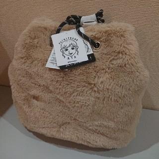 しまむら - 新品タグ付★しまむら プチプラのあや 巾着ショルダーバッグ ベージュ