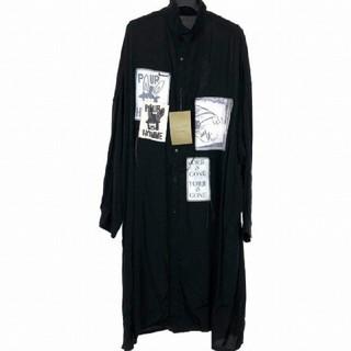 ヨウジヤマモト(Yohji Yamamoto)の新品 ヨウジヤマモト パッチロングシャツ 3(シャツ)