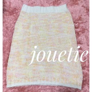 ジュエティ(jouetie)のjouetie【新品、未使用】MIX カラー ニット素材 ひざ丈 スカート(ひざ丈スカート)