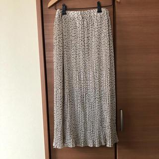 GRL - GRL ドットプリーツロングスカート