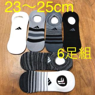 ☆新品☆ adidas レディース ソックス 23〜25cm 6足セット
