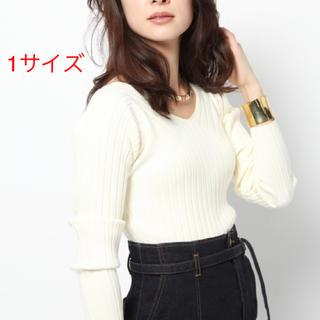 BARNYARDSTORM - 未使用☆雑誌掲載 BARNYARDSTORM ワイドVネックニット☆女性らしさ