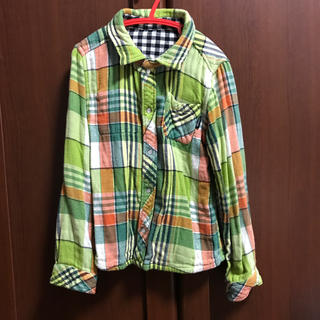 BREEZE - BREEZE リバーシブルネルシャツ