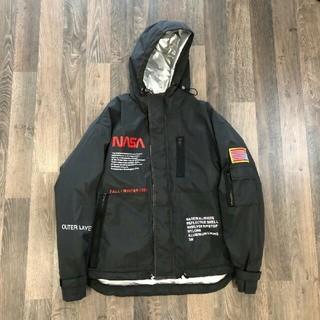 オフホワイト(OFF-WHITE)のheron preston&NASAヘロンプレストン 美品 ジャケット ブラック(ナイロンジャケット)