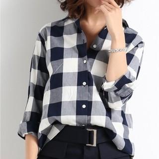 IENA - IENA BIGチェックシャツ 美品★framework ドゥーズィエムクラス