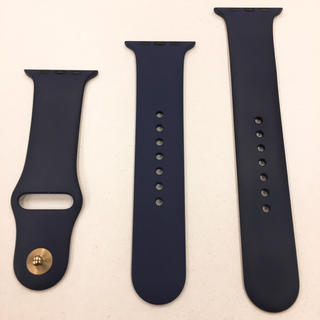 アップルウォッチ(Apple Watch)のアップル純正 ラバーベルト 紺 Apple Watch 42mm 44mm(その他)
