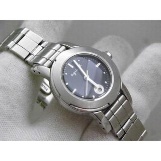 agnes b. - agnes b アニエスベー 腕時計 デイト ブラックダイアル