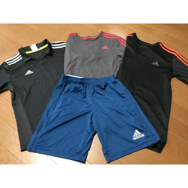 adidas(アディダス)のadidas アディダス 160  セット キッズ/ベビー/マタニティのキッズ服 男の子用(90cm~)(Tシャツ/カットソー)の商品写真