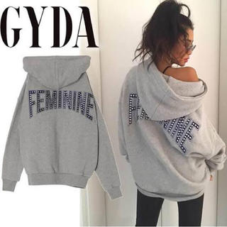 GYDA - GYDA フェミニンパーカー グレー ビックパーカー