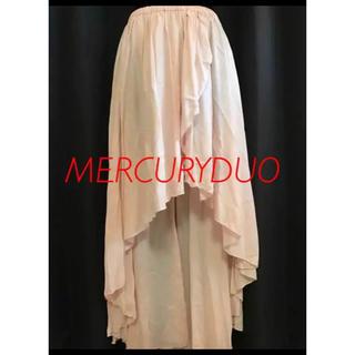 マーキュリーデュオ(MERCURYDUO)の【新品】マーキュリー デュオ ロングスカート ピンク Fサイズ(ロングスカート)
