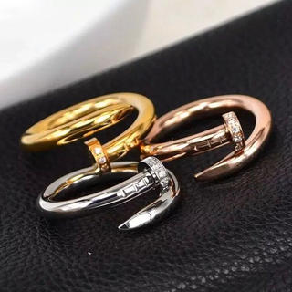 釘リング ステンレスリング  ステンレス指輪 ピンキーリング(リング(指輪))