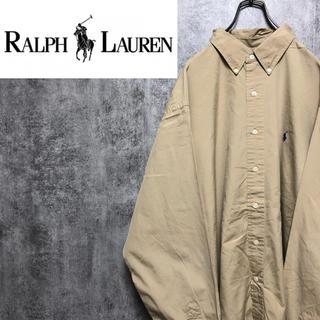 Ralph Lauren - 【激レア】ラルフローレン☆ワンポイント刺繍ロゴ入りボタンダウンビッグシャツ90s