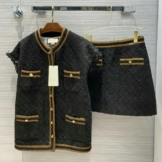 グッチ(Gucci)のグッチGucci 美品 ベスト カーディガン スカート 2点セット(カーディガン)