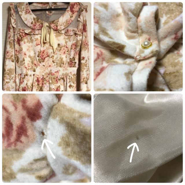 LIZ LISA(リズリサ)の値下げ!タグ付き未使用! LIZLISA 花柄 丸襟 ワンピース💐 おまけ付き レディースのワンピース(ミニワンピース)の商品写真